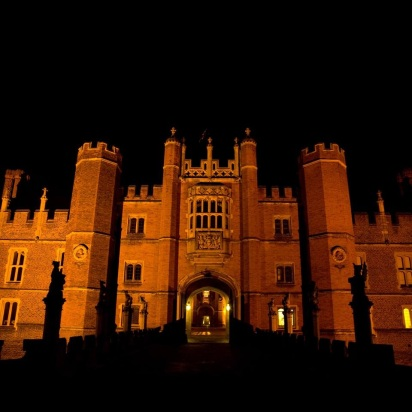 Hampton Court at night